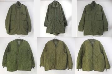 M65ジャケット、ライナー、ナイトカモパーカー