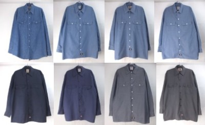ディッキーズ長袖ワークシャツ,Prentissデニム シャツ