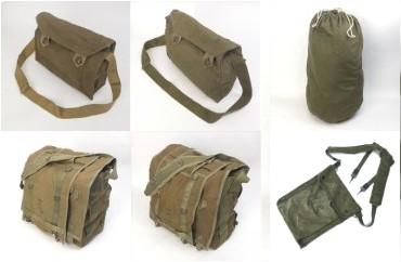 米軍50'sバラックバッグ、チェコ軍ショルダー他バッグ
