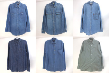デニムシャツ、長袖キューバシャツ など