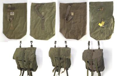 フランス軍米軍ダッフルバッグ、オーストリア軍ショルダーバッグ