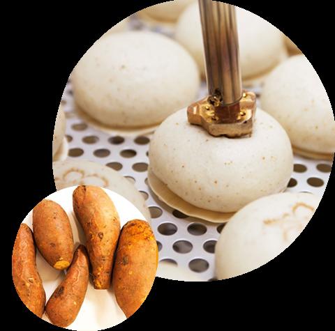 沖縄の太陽をたっぷりあびて、沖縄の大地に育まれた「黄金芋」を使った「黄金のスイーツ」が誕生しました。