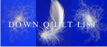 DOWN QUILT LIST